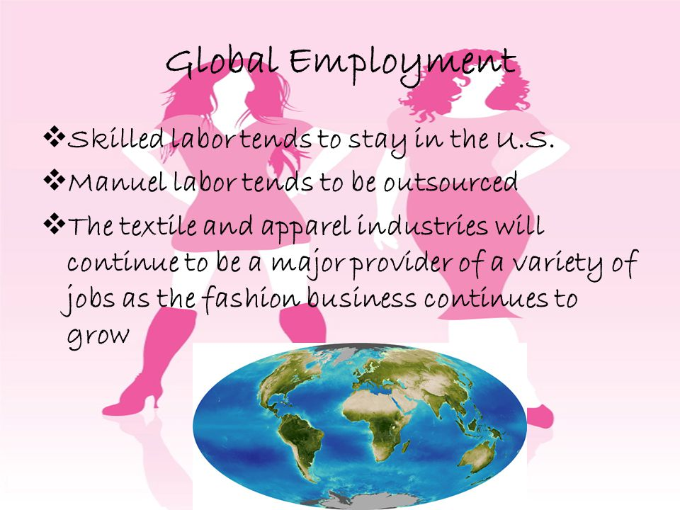 Global Employment Skilled labor tends to stay in the U.S.