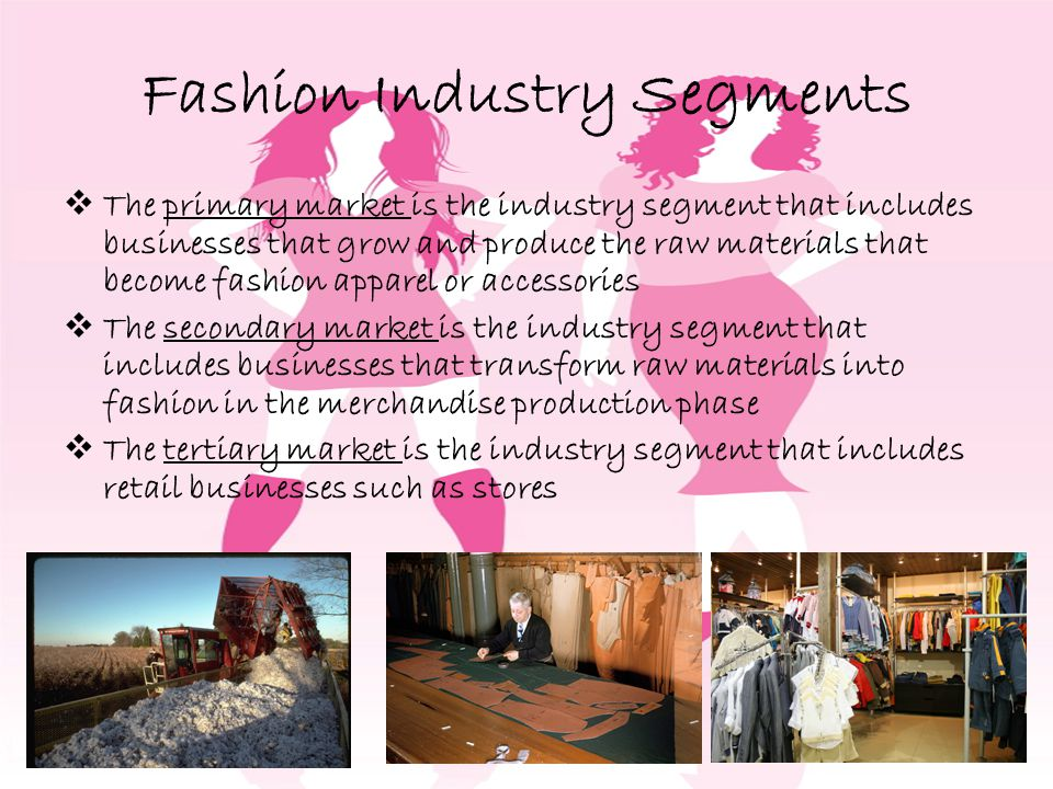 Fashion Industry Segments