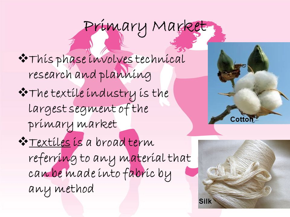 Primary Market This phase involves technical research and planning