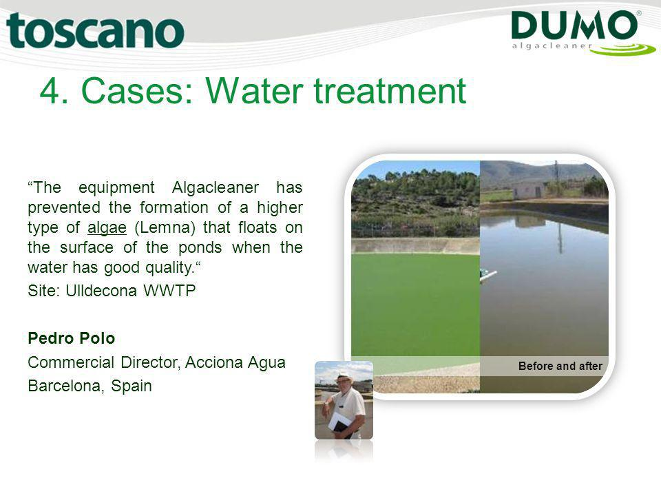 4. Cases: Water treatment