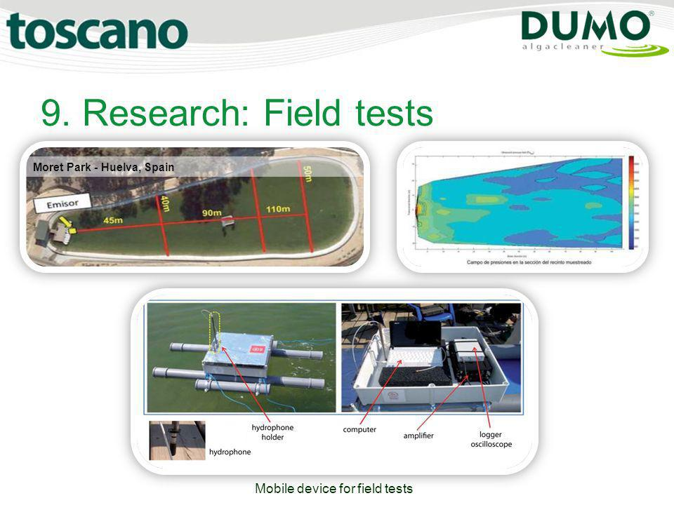 Mobile device for field tests