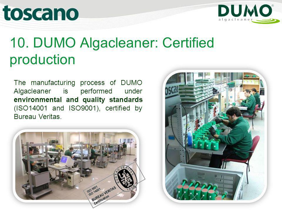 10. DUMO Algacleaner: Certified production