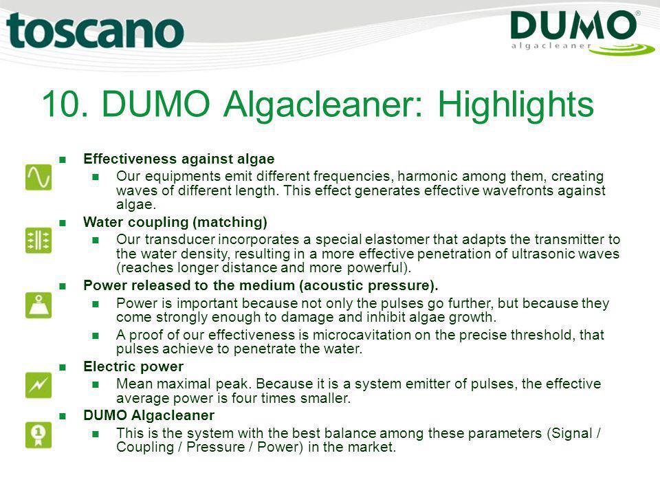 10. DUMO Algacleaner: Highlights