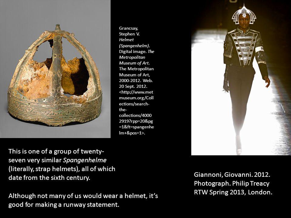 Grancsay, Stephen V. Helmet (Spangenhelm). Digital image