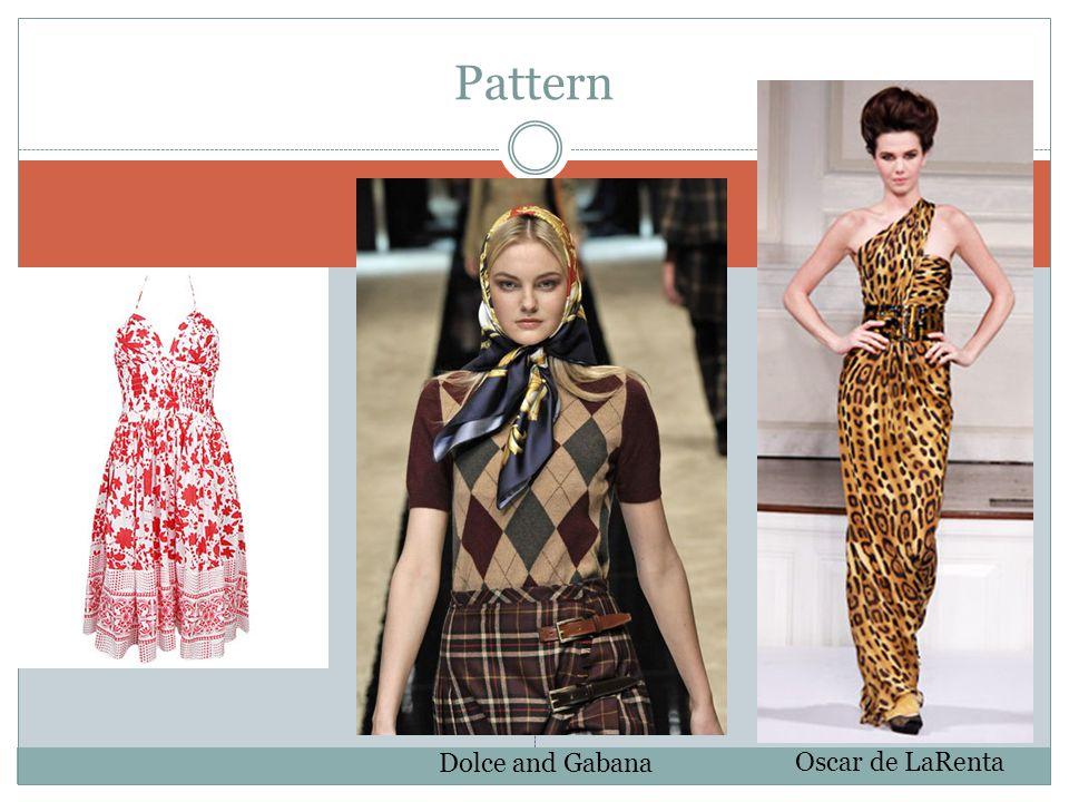 Pattern Dolce and Gabana Oscar de LaRenta