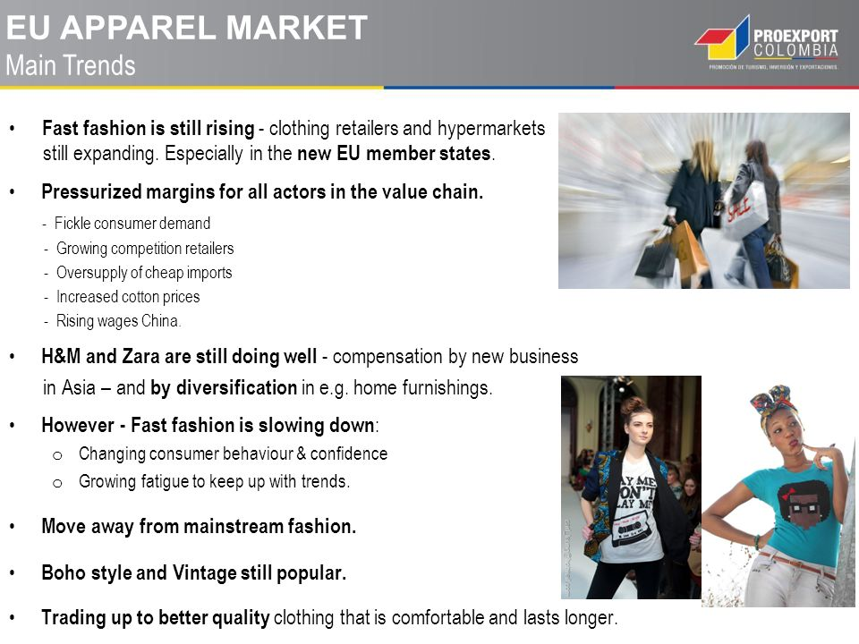 EU apparel market Main Trends