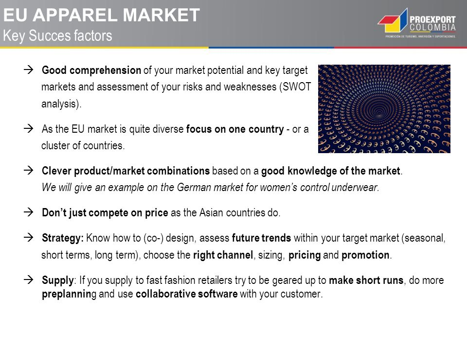 eu apparel MARKET Key Succes factors