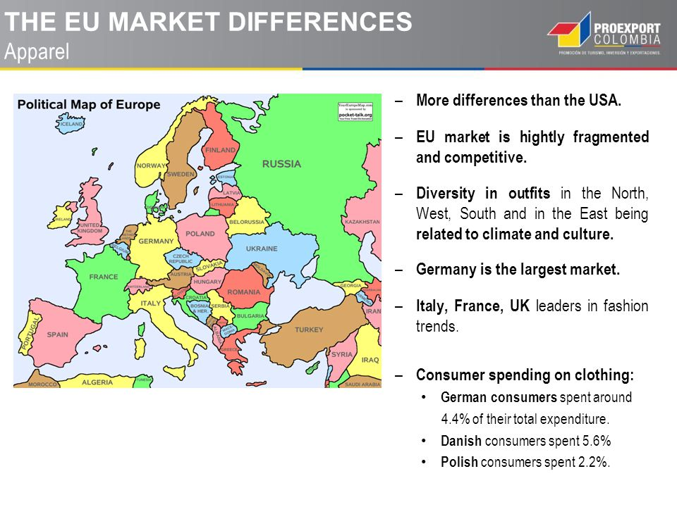 THE EU market DIFFERENCES