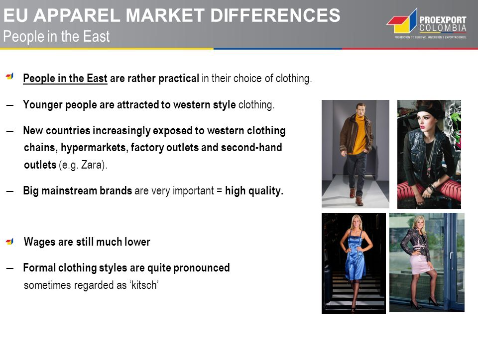 eu apparel MARKET differences