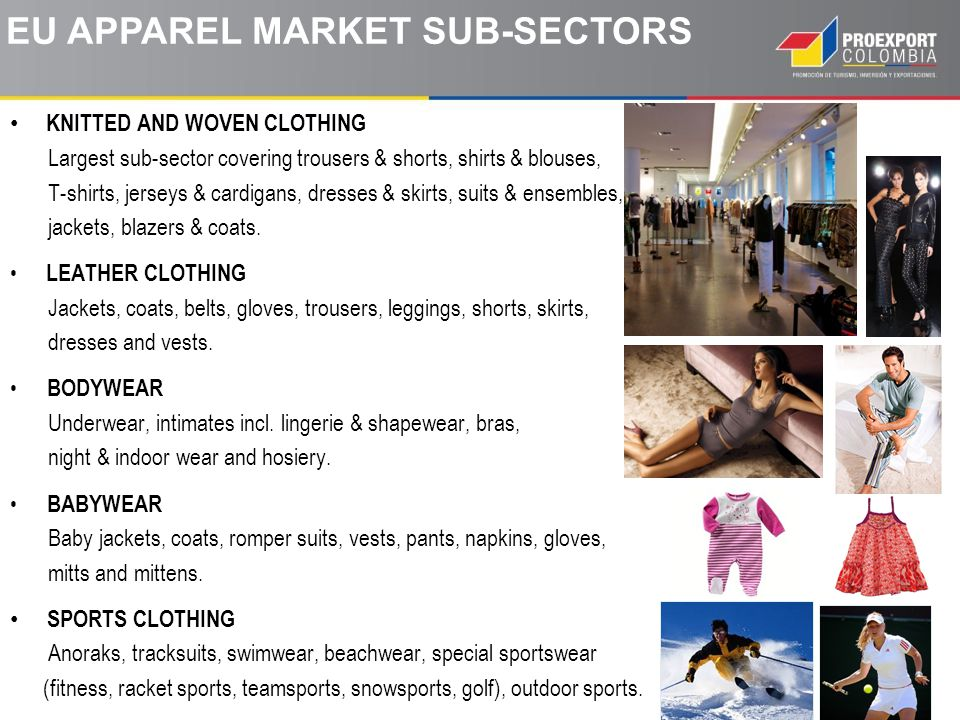 Eu apparel market sub-sectors