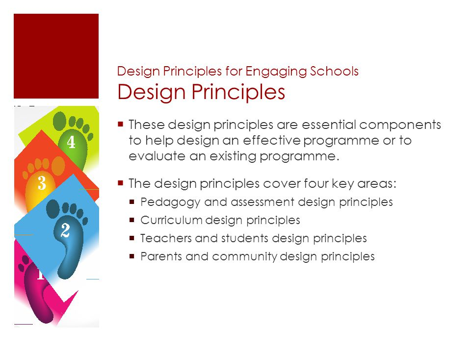 Design Principles for Engaging Schools Design Principles