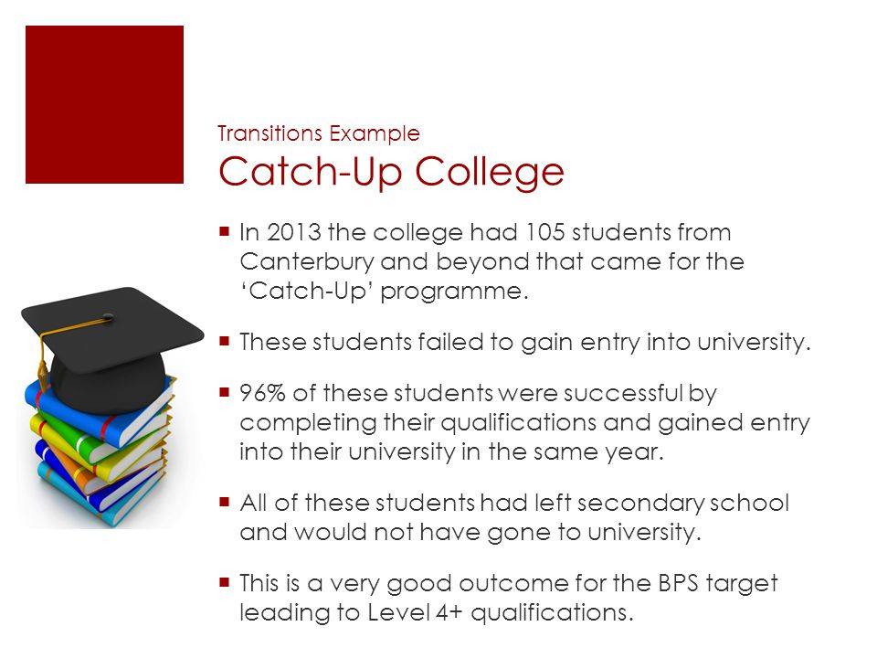 Transitions Example Catch-Up College