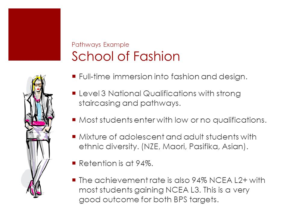 Pathways Example School of Fashion