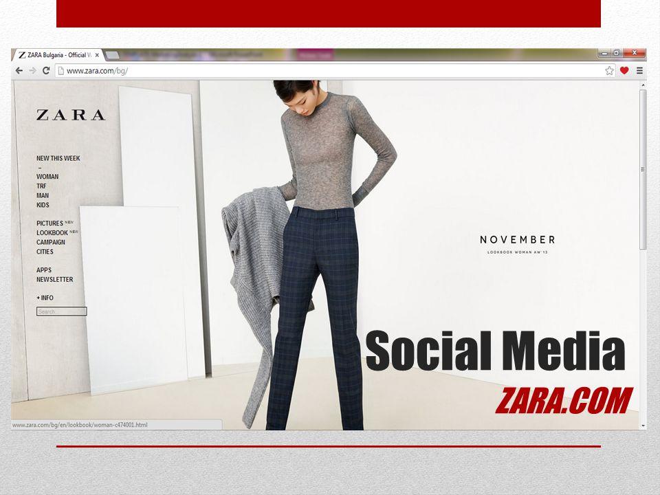 Social Media ZARA.COM