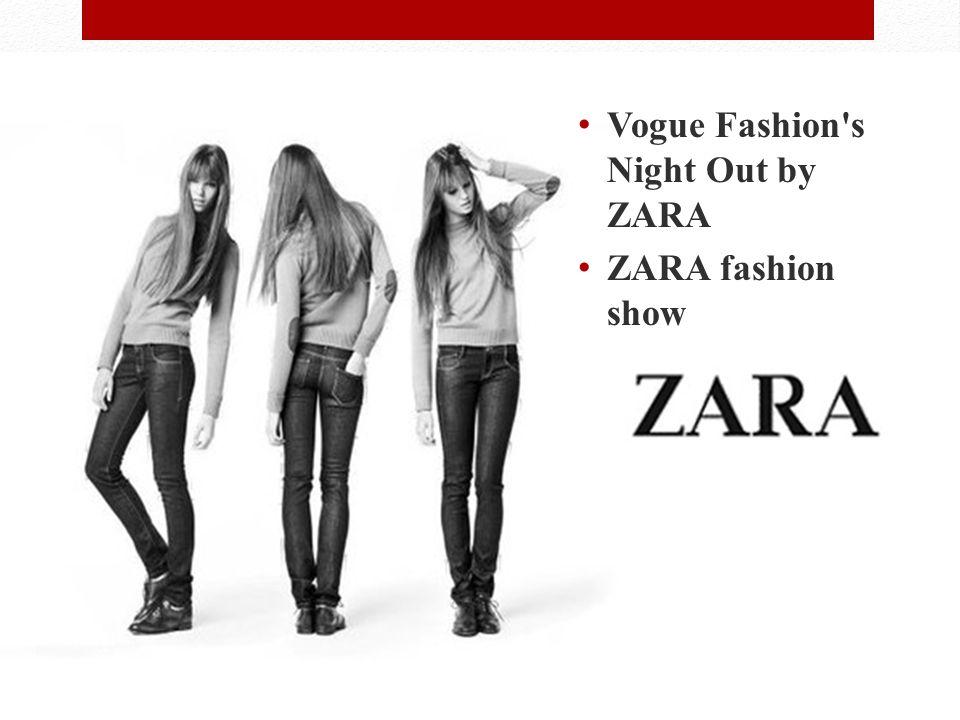 Events Vogue Fashion s Night Out by ZARA ZARA fashion show