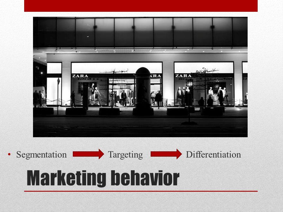 Marketing behavior Segmentation Targeting Differentiation