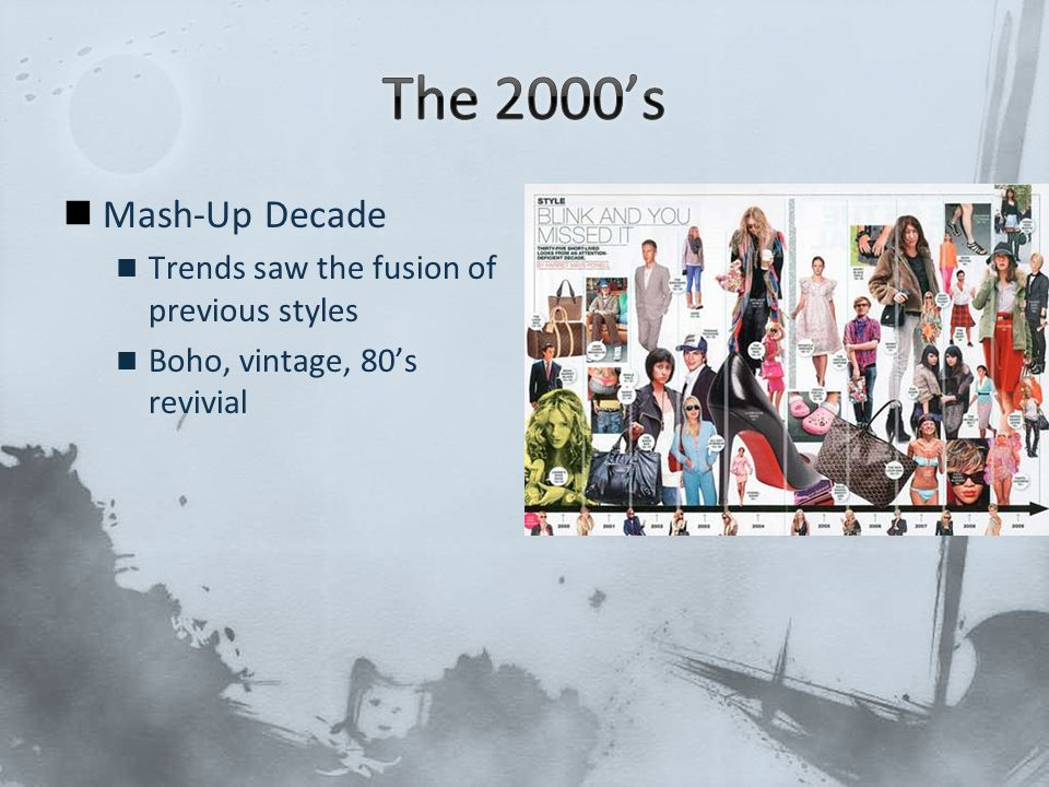 The 2000's Mash-Up Decade Trends saw the fusion of previous styles