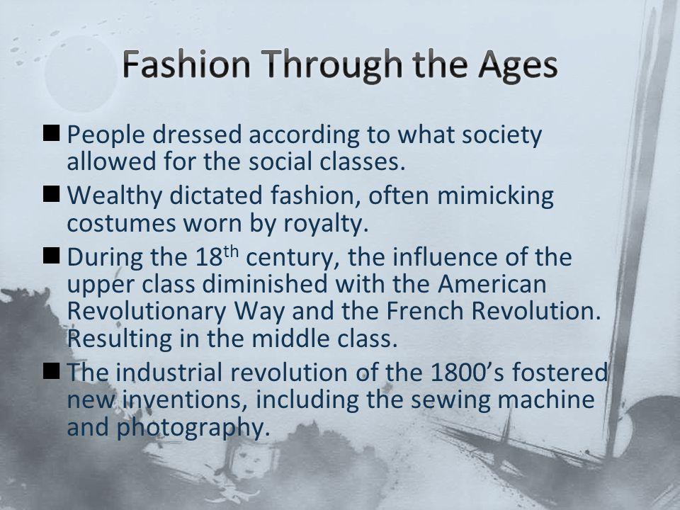 Fashion Through the Ages
