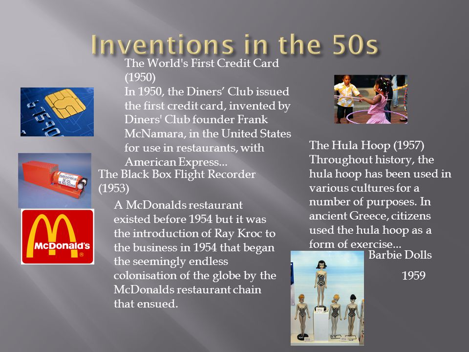 Inventions in the 50s The World s First Credit Card (1950)