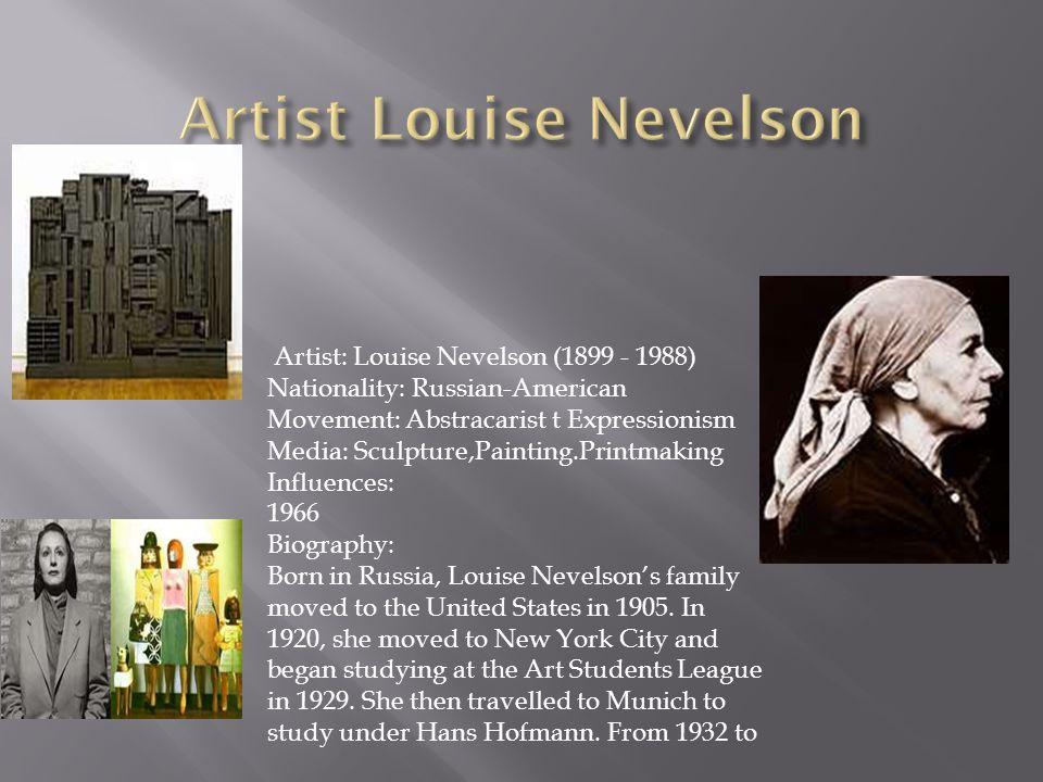 Artist Louise Nevelson