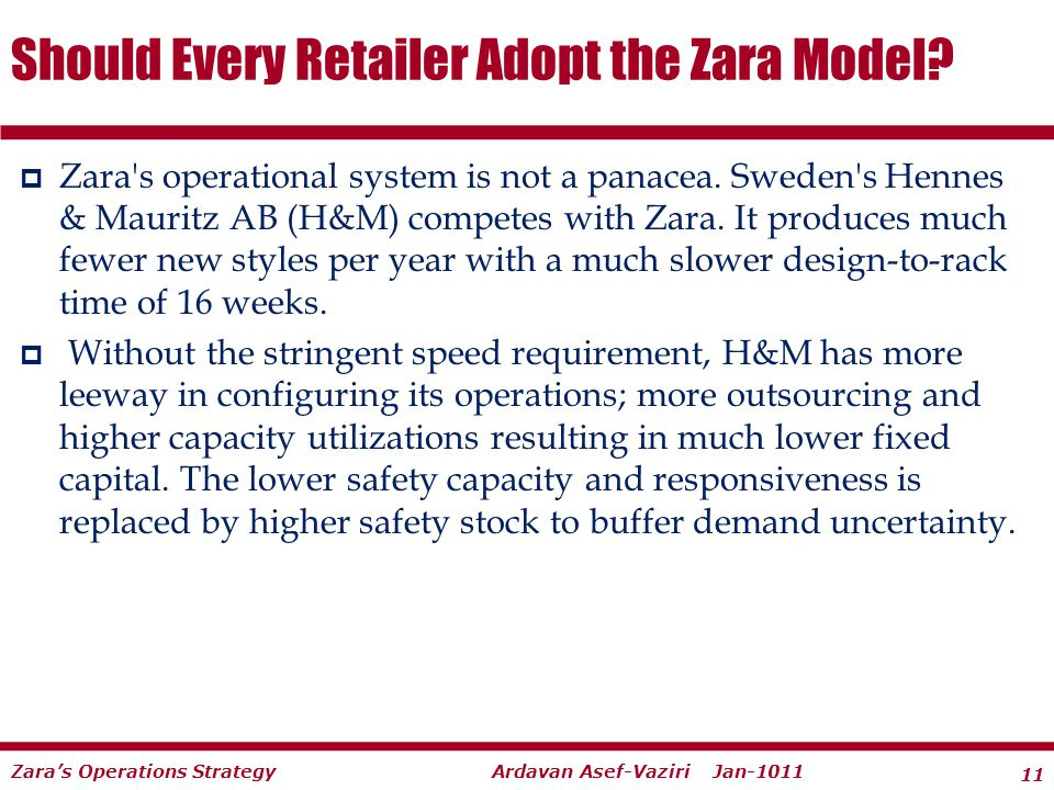 Should Every Retailer Adopt the Zara Model