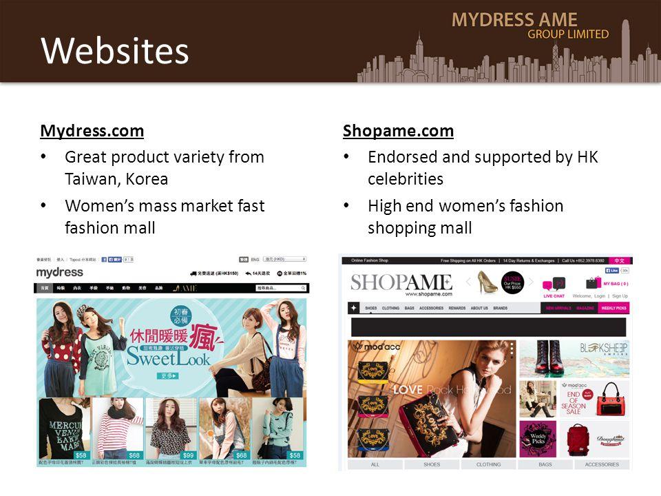 Websites Mydress.com Great product variety from Taiwan, Korea