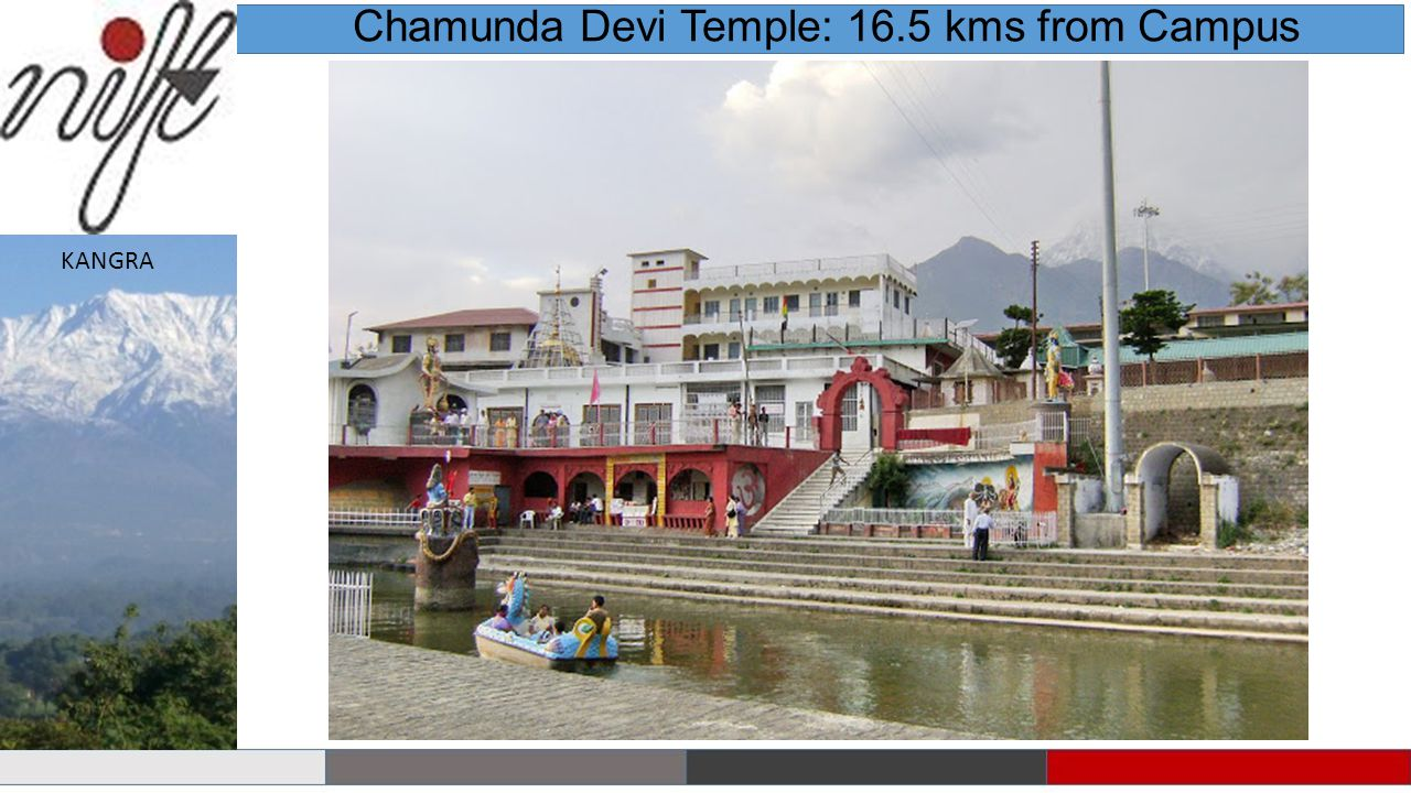 Chamunda Devi Temple: 16.5 kms from Campus