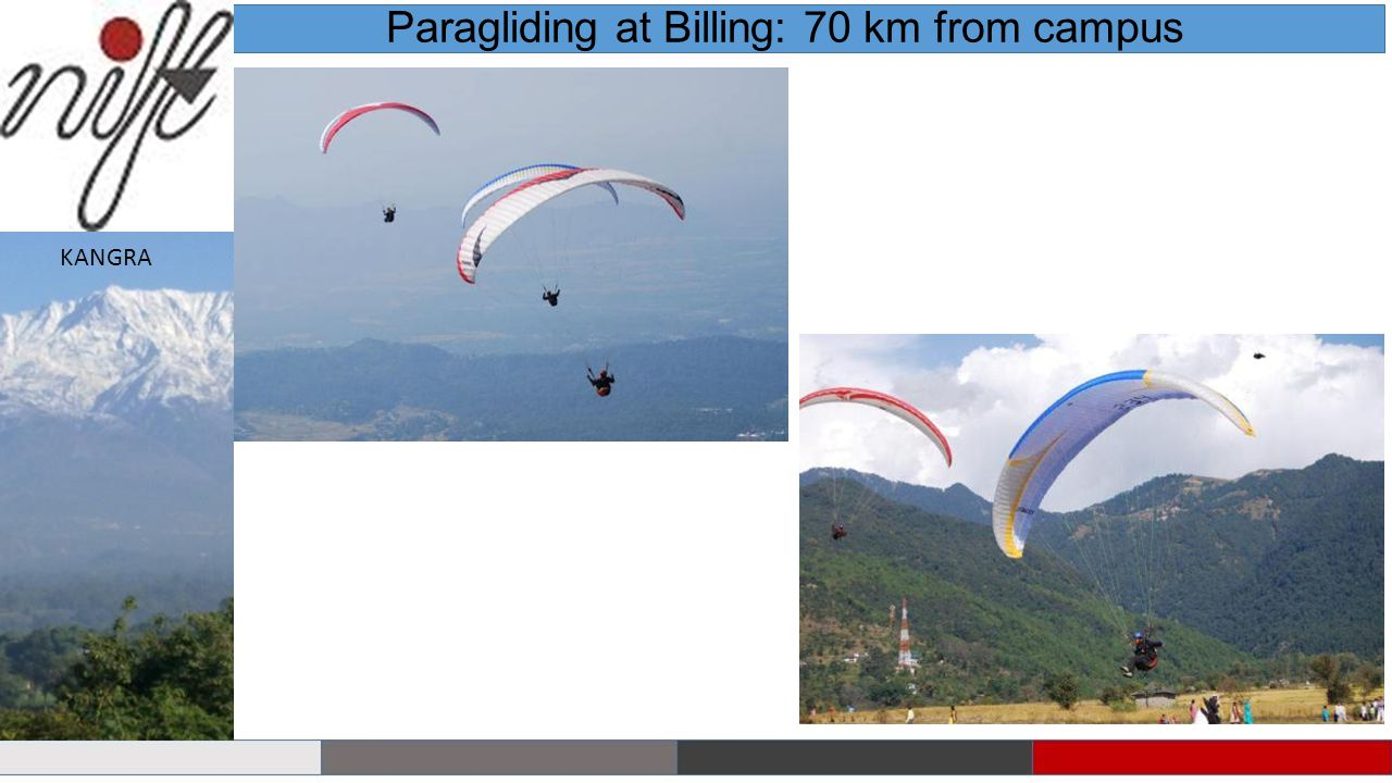 Paragliding at Billing: 70 km from campus