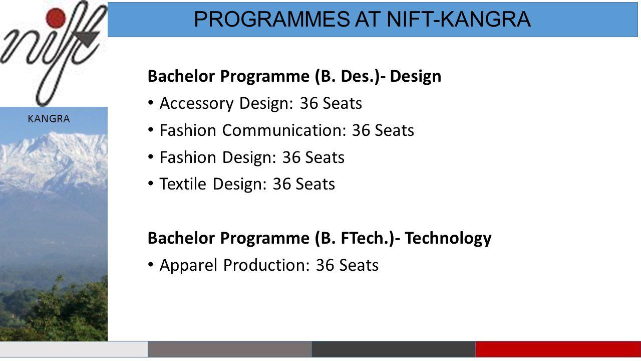PROGRAMMES AT NIFT-KANGRA