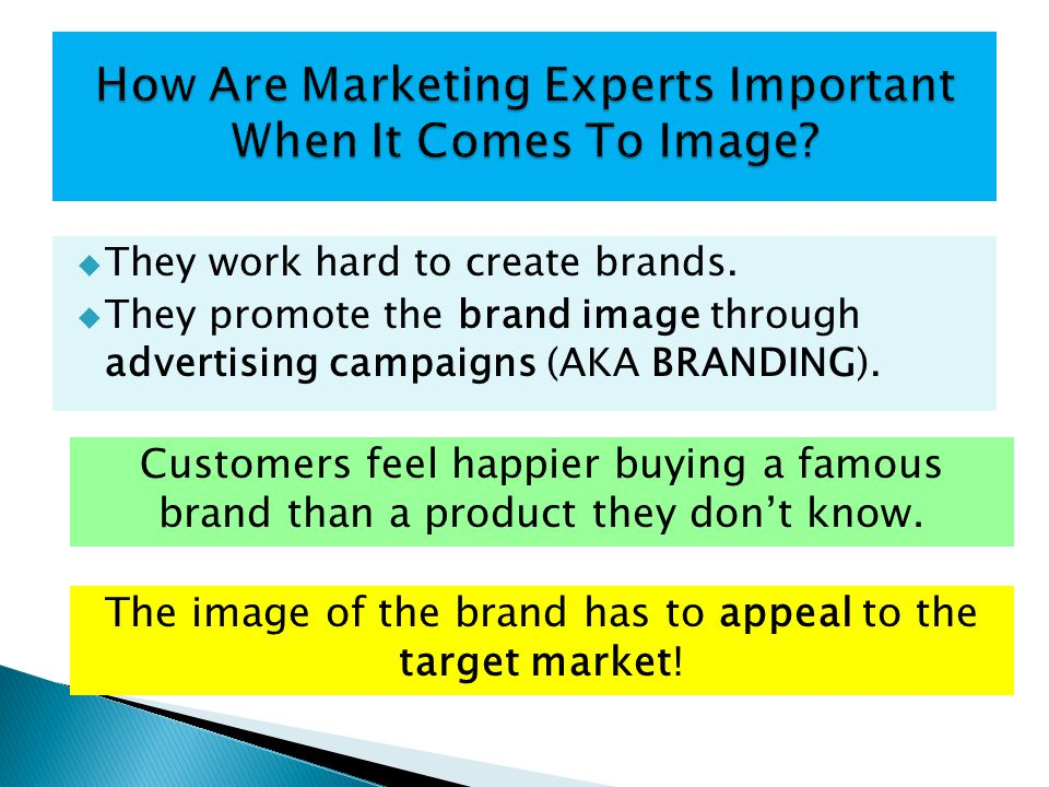 How Are Marketing Experts Important When It Comes To Image