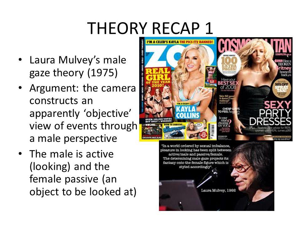 THEORY RECAP 1 Laura Mulvey's male gaze theory (1975)