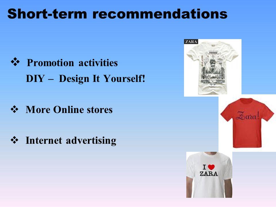 Short-term recommendations