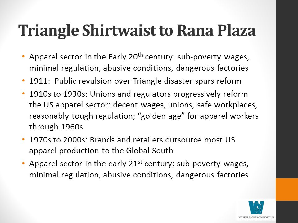 Triangle Shirtwaist to Rana Plaza