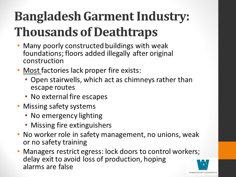 Bangladesh Garment Industry: Thousands of Deathtraps