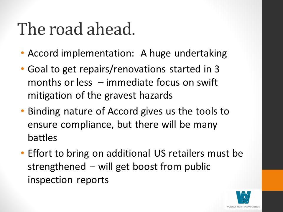 The road ahead. Accord implementation: A huge undertaking