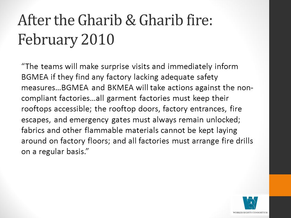 After the Gharib & Gharib fire: February 2010