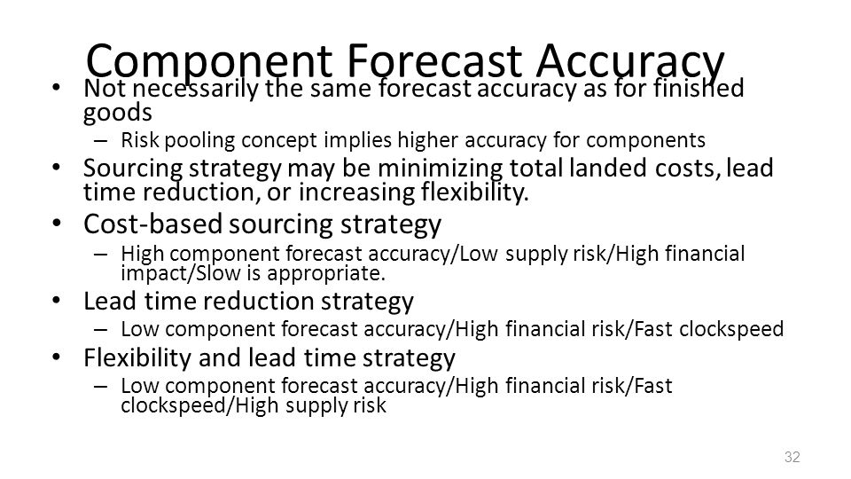 Component Forecast Accuracy
