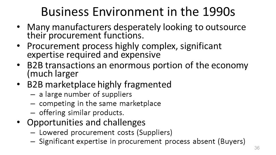 Business Environment in the 1990s