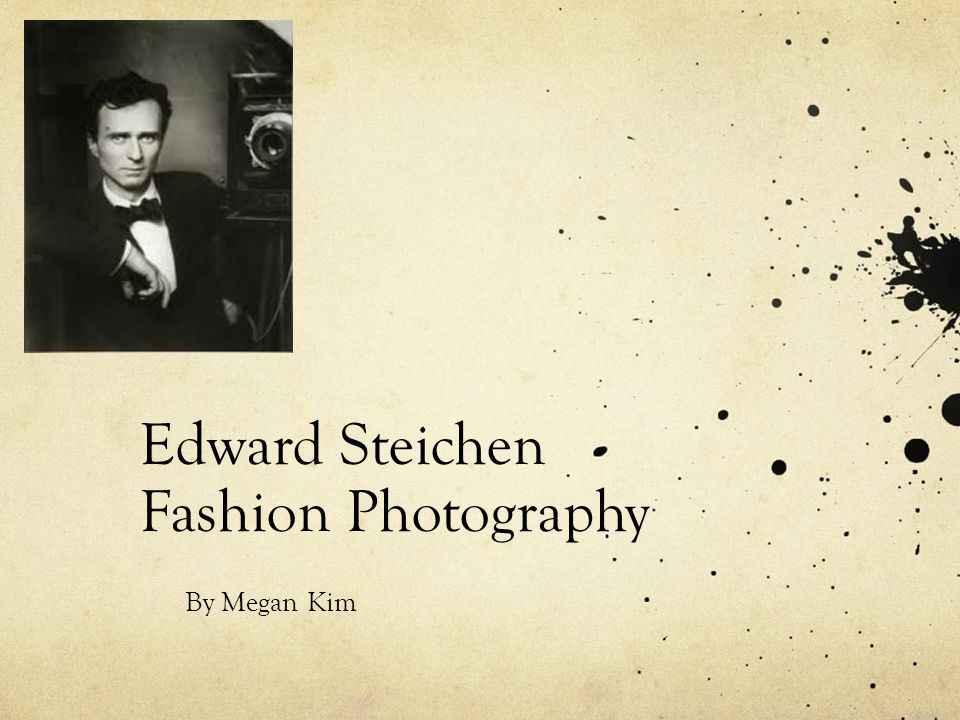 Edward Steichen Fashion Photography