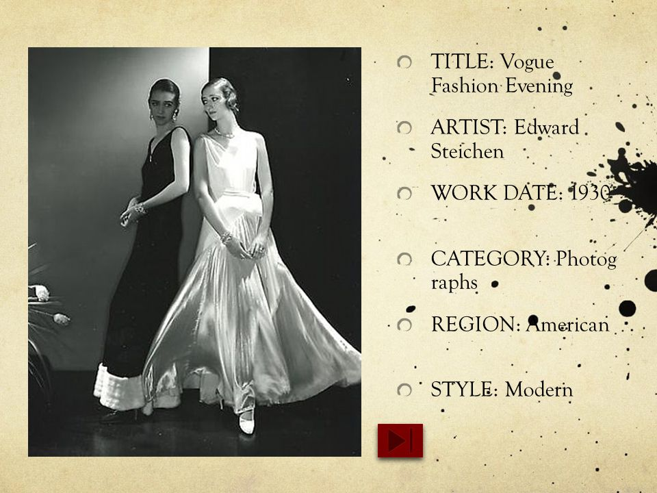 TITLE: Vogue Fashion Evening