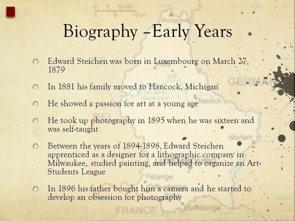 Biography –Early Years