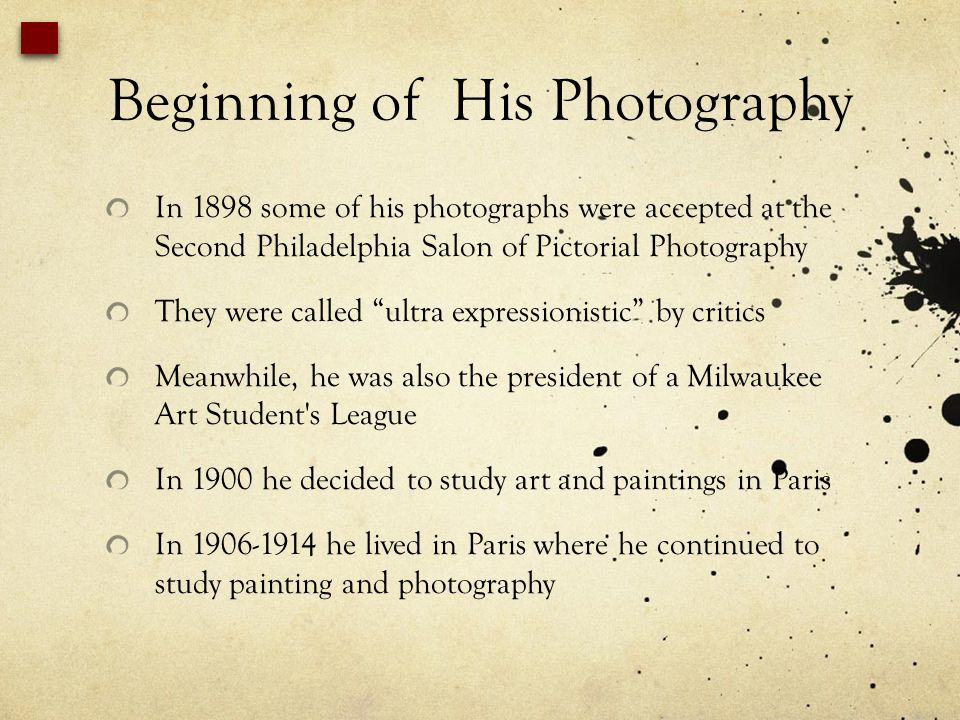 Beginning of His Photography