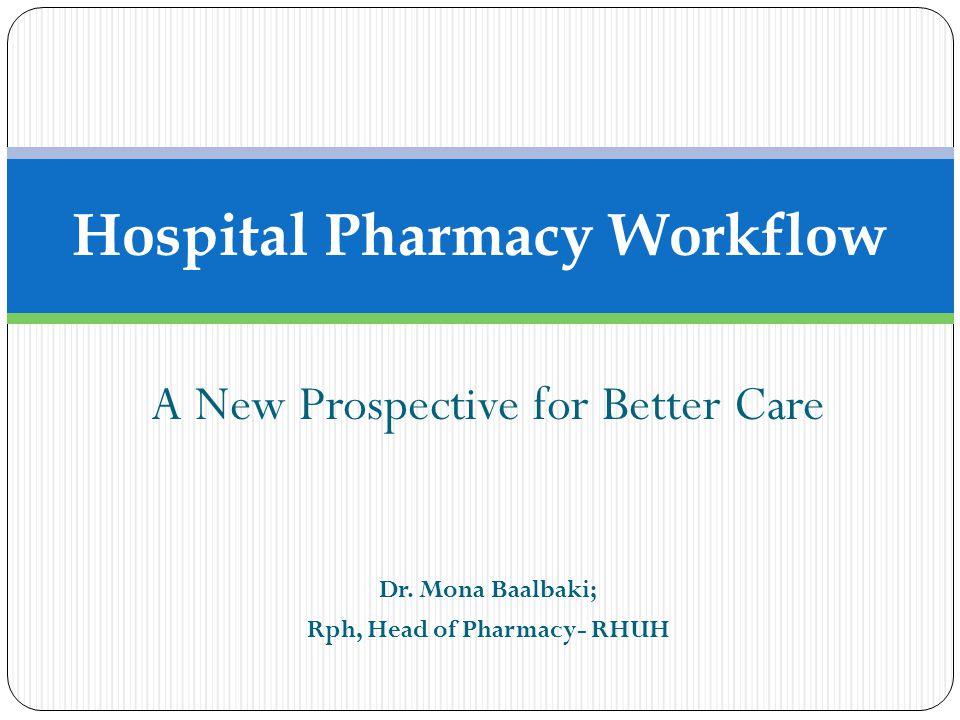 Hospital Pharmacy Workflow