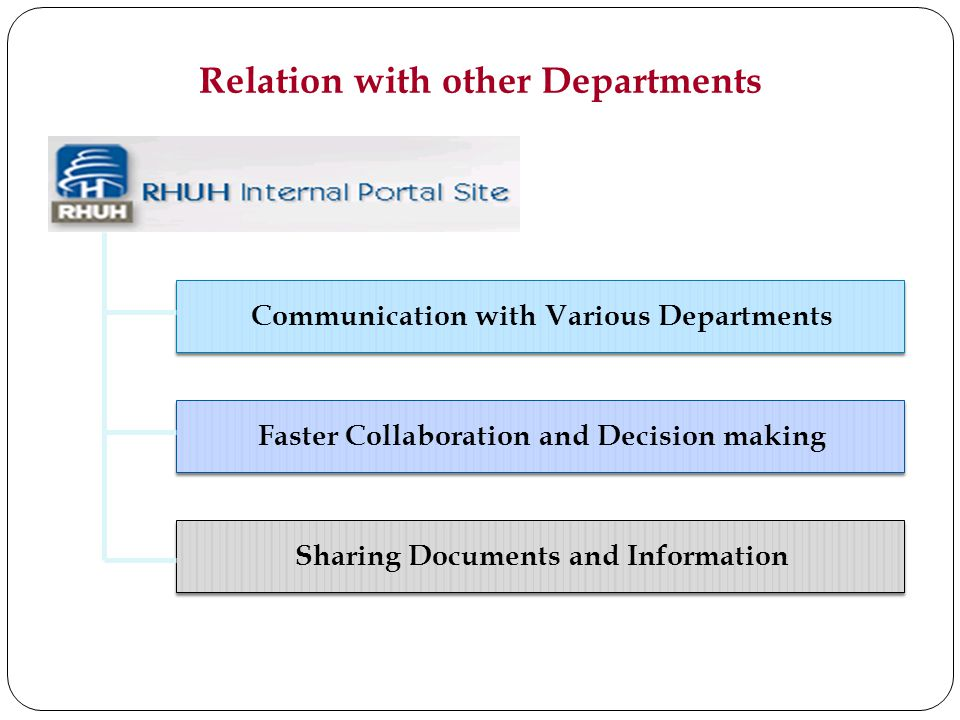 Relation with other Departments
