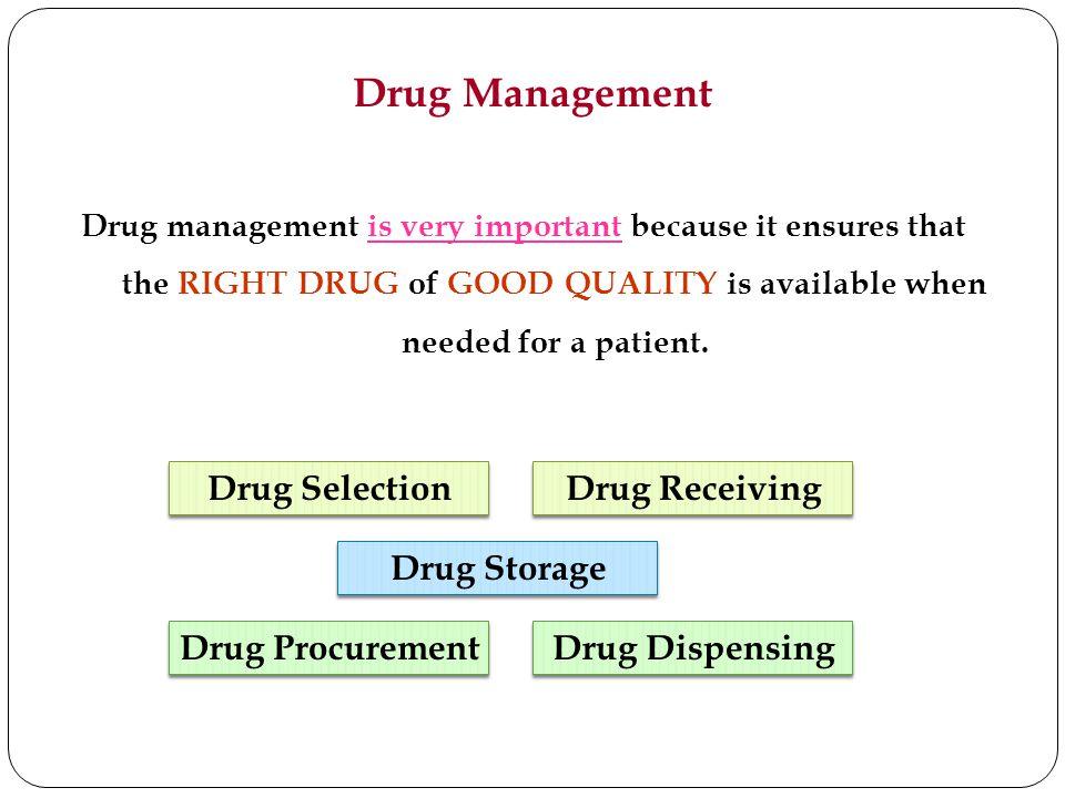 Drug Management Drug Selection Drug Receiving Drug Storage