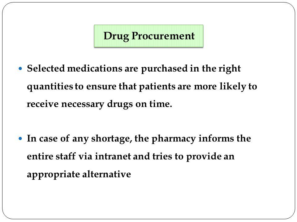 Drug Procurement