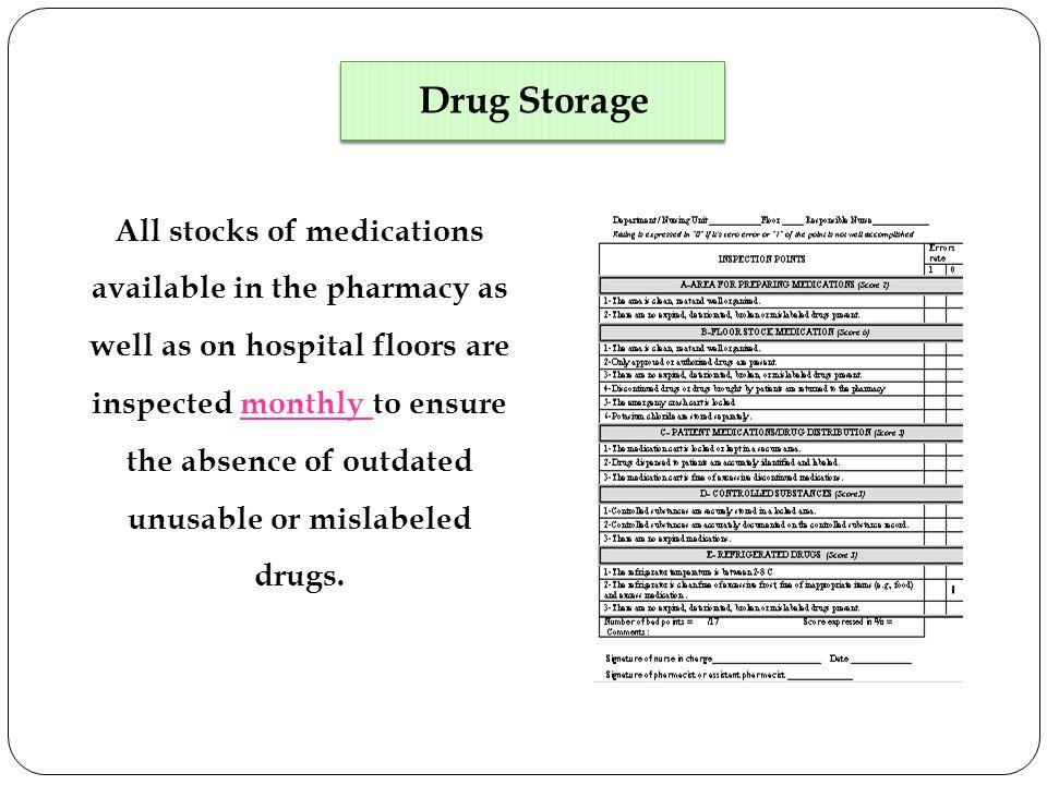 Drug Storage