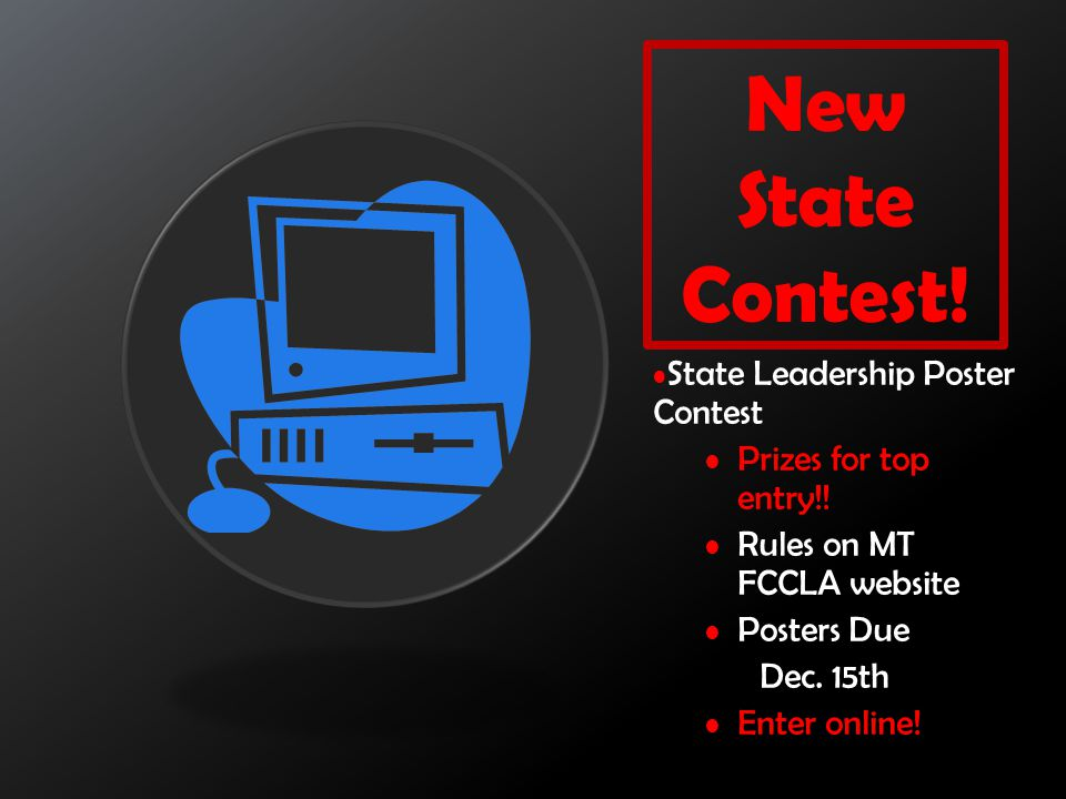 New State Contest! State Leadership Poster Contest