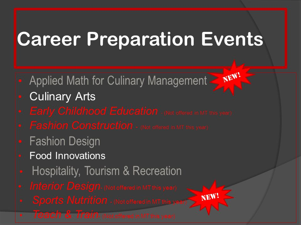 Career Preparation Events