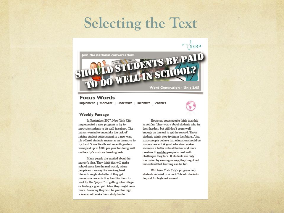 Selecting the Text 14